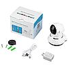 Поворотная сетевая IP Wi-Fi камера видеонаблюдения с датчиком движения и ночного виденья 360°V380-Q6, фото 6
