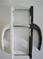 """Ручки для пластиковых дверей бело-коричневый """"VORNE"""" 25-85/200 мм c пружиной для ПВХ дверей"""