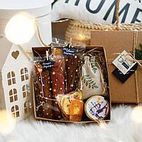"""Подарунковий набір """"МAN BOX"""". Пастила та фруктові чипси"""