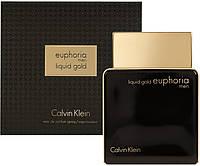 Мужская парфюмированная вода Liquid Calvin Klein Gold Euphoria Men - 100 мл, фото 1