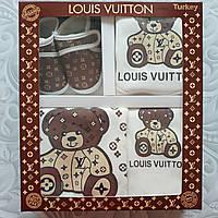 Набор Louis Vuitton на выписку, в подарочной коробке, 5 предметов
