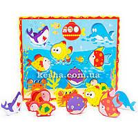 Деревянная игрушка Объемные вкладыши «Рыбки»., развивающие товары для детей.