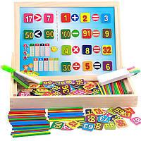 Деревянная игрушка Набор обучения арифметике, развивающие товары для детей.
