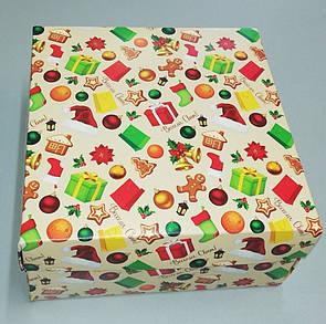 Подарочная коробка для торта 195*195*97 К01