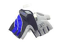 Перчатки X17 XGL-552BL гелевые, сине-черные, M