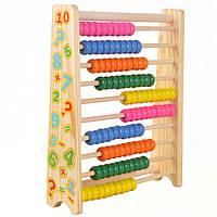 Деревянная игрушка Счеты «Считалочка», развивающие товары для детей.