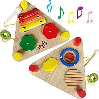 Деревянная игрушка Музыкальный набор инструментов 6 в 1, развивающие товары для детей.