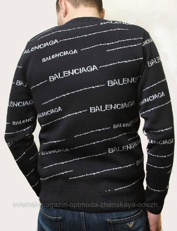 Стильный теплый мужской шерстяной свитер(70% шерсть, 30% акрил), размеры: L, XL