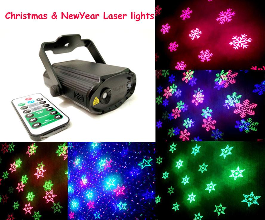 Новогодний лазерный проектор с пультом ДУ, USB, светомузыка