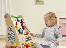 Деревянные развивающие ходунки каталка+сортер для детей EcoToys, фото 2
