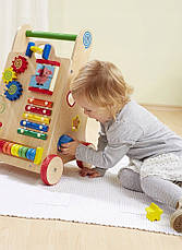 Деревянные развивающие ходунки каталка+сортер для детей EcoToys, фото 3