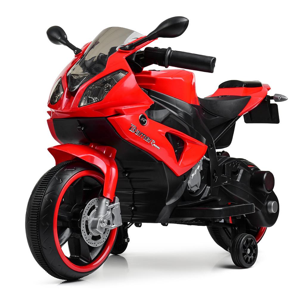 Дитячий мотоцикл Bambi M 4103-3 червоний Гарантія якості Швидка доставка