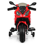 Дитячий мотоцикл Bambi M 4103-3 червоний Гарантія якості Швидка доставка, фото 3