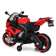 Дитячий мотоцикл Bambi M 4103-3 червоний Гарантія якості Швидка доставка, фото 5