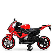 Дитячий мотоцикл Bambi M 4103-3 червоний Гарантія якості Швидка доставка, фото 4