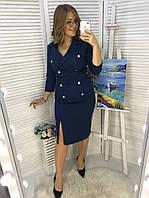 Платье женское по фигуре Костюмка Размер 48 50 52 54 56 58 В наличии 6 цветов, фото 1