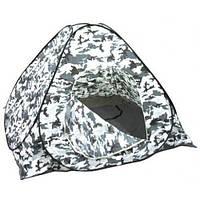 Палатка для зимней рыбалки с дном белый камуфляж 2,3х2,3