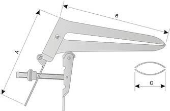 АГ 9-18 Зеркало влагалищное двухстворчатое по Куско № 2