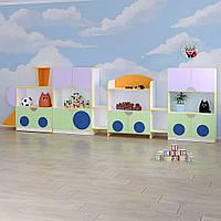 Детская стенка для игрушек «Паровоз», фото 1