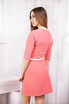 Модное короткое платье из трикотажного крэпа, фото 2