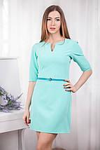 Модное короткое платье из трикотажного крэпа, фото 3