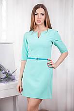 Модное короткое платье из трикотажного крепа, фото 3