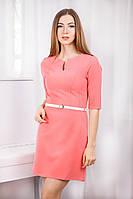 Модное короткое платье из трикотажного крепа