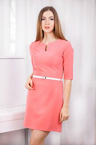 Модное короткое платье из трикотажного крепа, фото 2