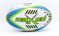 Мяч для регби MAXED PU, р-р 12in, №5, белый (MAXED), фото 1