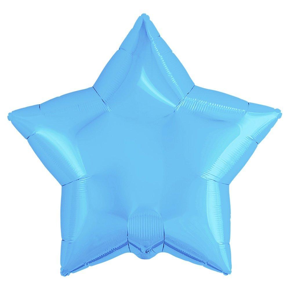Фольгированные шарики Звезда, голубой Китай 44 см  1529