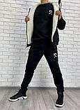 Мужской спортивный костюм черный, фото 3