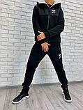 Мужской спортивный костюм черный, фото 4