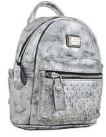 Сумка-рюкзак женская YES, темно-серый , 17*20*8см код: 553229