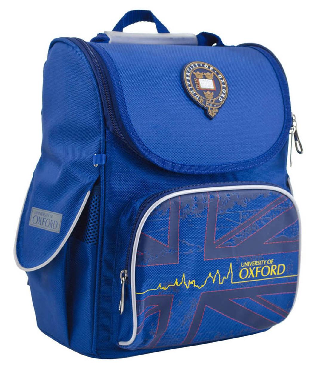 Рюкзак школьный ортопедический каркасный  YES  H-11 Oxford blue, 34*26*14 код: 553292