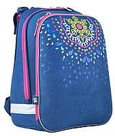 Рюкзак школьный каркасный ортопедический  YES  H-12 Mandala, 38*29*15     код: 554583