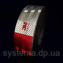 3М - Маркувальна світлоповертаюча стрічка 50 мм х 50 м, червоно-біла, фото 2