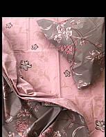 Постельный комплект Цветы на кофейном, бязь (Хлопок)