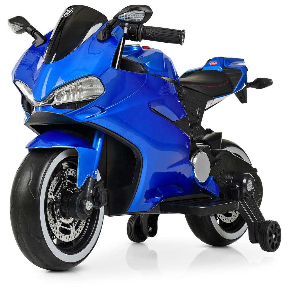 Детский электромотоцикл M 4104ELS-4 Автопокраска Синий Гарантия качества Быстрая доставка