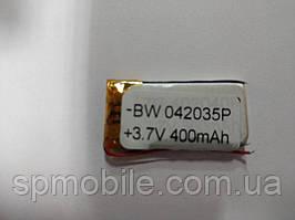 Акумулятор 042035 для China (Li-ion 3.7 В 400мА·год), (35*20*4 мм) 2 контакту (проводу)