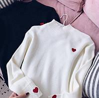 Женские свитера с сердечком (расцветки)