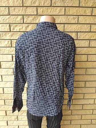 Рубашка мужская стрейчевая коттоновая брендовая высокого качества FOSSIYA, Турция, фото 2