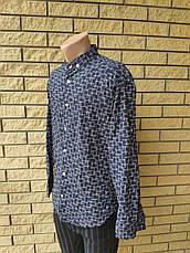 Рубашка мужская стрейчевая коттоновая брендовая высокого качества FOSSIYA, Турция, фото 3