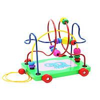Деревянная игрушка Каталка-лабиринт «Спиралька», развивающие товары для детей.