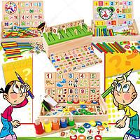 Деревянная игрушка Обучающие коробочки, развивающие товары для детей.