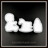 Плунжер Ребёнок  Бутылочка, Лошадка-качалка, 3 шт (кнопка), фото 9