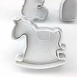 Плунжер Ребёнок  Бутылочка, Лошадка-качалка, 3 шт (кнопка), фото 4