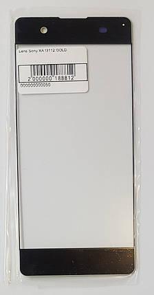 Скло модуля для Sony F3112 Xperia XA золотий, фото 2