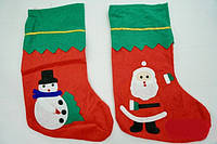 Носок новогодний для подарков Рождественский 24 см  только по 12 штук
