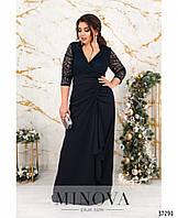 Вечернее платье  с шёлковым подолом и кружевным верхом с подкладкой с 52 по 60 размер