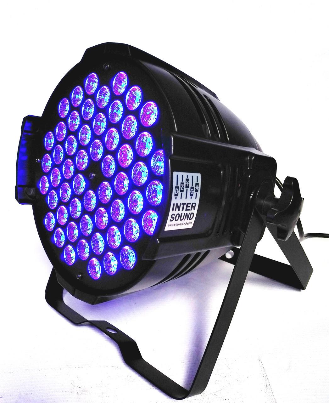 Светодиодный прожектор par 54x3W. RGB(W) 3in1 светомузыка, подсветка, строб